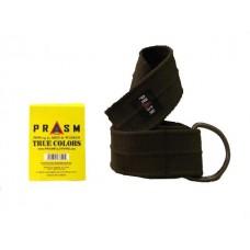 PRASM Unisex Solid Color D-Ring Canvas Belts - Dark Brown