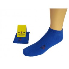Men's Low-Cut PRASM Low-Cut Ankle Socks - Blue (Single Pair)