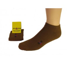 Men's Low-Cut PRASM Low-Cut Ankle Socks - Brown (Single Pair)