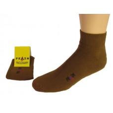 Men's Anklet PRASM Low-Cut Ankle Socks - Brown (Single Pair)