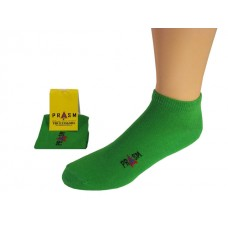 Men's No Show PRASM Low-Cut Ankle Socks - Bright Green (Single Pair)