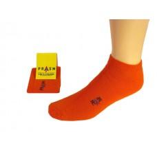 Men's Low-Cut PRASM Low-Cut Ankle Socks - Bright Orange (3-pack)