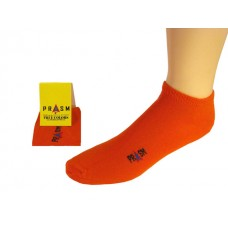 Men's No Show PRASM Low-Cut Ankle Socks - Bright Orange (Single Pair)