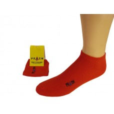 Men's No Show PRASM Low-Cut Ankle Socks - Bright Red (Single Pair)