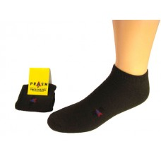 Men's Low-Cut PRASM Low-Cut Ankle Socks - Dark Brown (Single Pair)