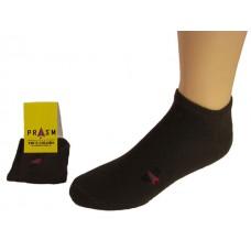 Men's No Show PRASM Low-Cut Ankle Socks - Dark Brown (Single Pair)