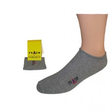 Men's No Show PRASM Low-Cut Ankle Socks - Dark Grey (3-pack)