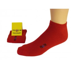 Men's Low-Cut PRASM Low-Cut Ankle Socks - Dark Red (Single Pair)