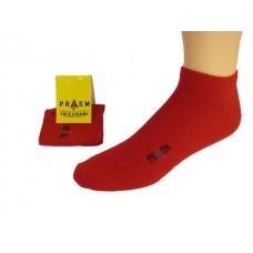 Men's No Show PRASM Low-Cut Ankle Socks - Dark Red (Single Pair)
