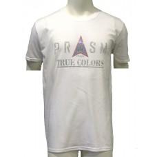 Men's Rhinestone Short-sleeve T-Shirt - White