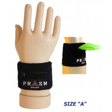 Cotton Zipper Pocket Wristband - Black