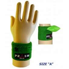 Cotton Zipper Pocket Wristband - Bright Green