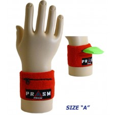 Cotton Zipper Pocket Wristband - Bright Red